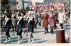 1 maja 1976 rok Pochód - Technikum Ekonomiczne