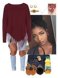 """Untitled #3332"" by astoldby-kay ❤ liked on Polyvore featuring MICHAEL Michael Kors, Boris, NLY Accessories and Casio"