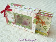 by SweetBioDesign Homemade Gift Boxes, Diy Gift Box, Diy Box, Paper Folding Crafts, Paper Crafts, Diy Crafts Hacks, Diy And Crafts, Box Cards Tutorial, Scrapbook Box