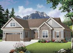 1780 sq ft. This tidy one story house plan gives you great flexibility with a bonus room and an unfinished basement for future expansion. Plus, alternat versions give you even more flexibility to enjoy.</li><li>A covered entry leads to an open foyer where the eye is drawn to the lovely fireplace flanked by generous built-in cabinetry and the windows offering back yard views.</li><li>The kitchen a major activity hub and has a g...