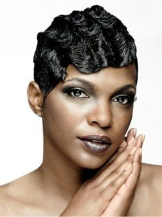 finger wave hairstyles for black women | Finger waves More