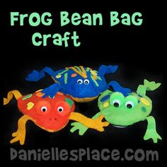 Frog Bean Bag Craft from www.daniellesplace.com