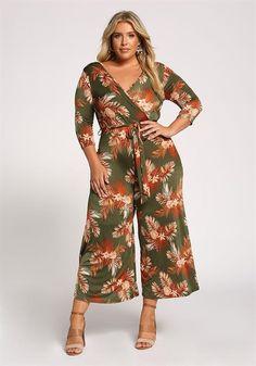 Plus Size Floral Waist Tie Wide Legged Jumpsuit Plus Size Jumpsuit, Curvy Fashion, New Trends, Jumpsuits For Women, Stitch Fix, Plus Size Outfits, Wide Leg, Cute Outfits, Rompers