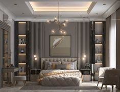 Master Bedroom on Behance Home Room Design, Luxury Living Room, Luxury Living Room Design, Bedroom False Ceiling Design, Luxurious Bedrooms, Modern Bedroom, Modern Luxury Bedroom, Luxury Bedroom Master, Classic Bedroom