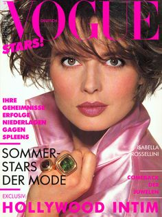 Isabella Rossellini Vogue Deutsch June 1988