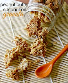 Looking for a healthy breakfast? Try this Peanut Butter and Coconut Oil Granola #GF #PeanutButterBash