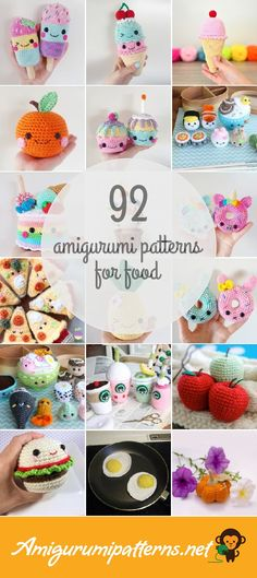 has the largest collection of free and premium Food amiguru. : Amigurumipatterns… has the largest collection of free and premium Food amigurumi patterns. Click now and discover wonderful crochet patterns! Crochet Cake, Crochet Food, Cute Crochet, Crochet Crafts, Easy Crochet, Crochet Projects, Crochet Birds, Crochet Bear, Crochet Animals
