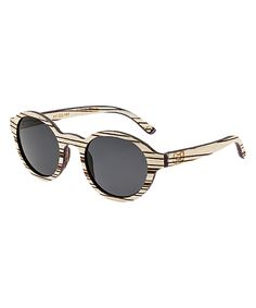 Love this White Zebrawood Maho Wood Sunglasses by EARTH wood watches on #zulily! #zulilyfinds