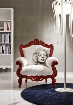 in my dream house there will be a marilyn monroe room. and this chair will be in it.