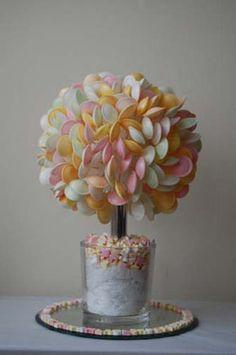 Arbre à bonbons pour un mariage thème gourmandise