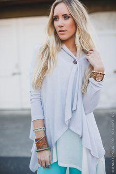 Softest Button-Collar Sweater Cardigan - Heather Gray
