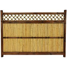 Red Lantern (Actual: x Oriental Furniture Beige Bamboo Garden Fence Panel at Lowe's. Dark walnut frame surrounding bleached bamboo rods and a bamboo criss-cross lattice with decorative black ties. Bamboo Garden Fences, Garden Fence Panels, Yard Fencing, Fence Planters, Panel W, Bamboo Poles, Bamboo Trellis, Japanese Bamboo, Japanese Fence