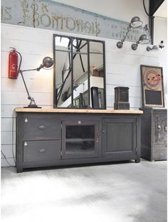 ancien coffre fort loft atelier industriel products i love i mean i want. Black Bedroom Furniture Sets. Home Design Ideas