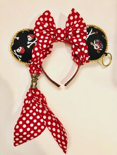 Minnie Mouse Pirate ears! Perfect for Pirate Night on your Disney Cruise.