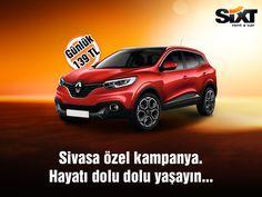 Renault Kadjar ile hayatı dolu dolu yaşayın. #Sixt #Sixtrentacar