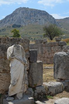 .:. Archaeological Site of Ancient Corinth: Ancient Corinth stands underneath the hill of Acrocorinth and its castle- which one can also visit with the same ticket. The most impressive presence in the site is of course the archaic temple of Apollo.