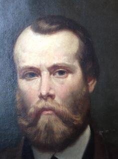 Henri SIEURAC (Toulouse 1823- Paris 1863)   PORTRAIT  -  HUILE SUR TOILE  - 1862 -ELEVE DE DELAROCHE !!!