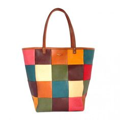 MOZAIC TOTE BAG Type.2 - LEATHER ARTS & CRAFTS MOTO