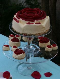 Rose Cheese Cake Recipe