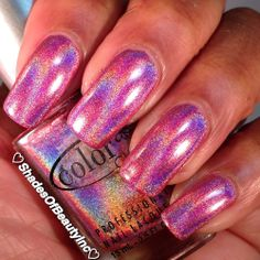 @ColorClubPolish Miss Bliss. Pink Holo goodness.