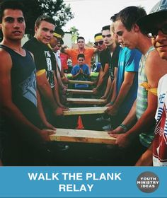 Walk the Plank – great relay race or team building exercise. Youth Ministry Ideas and Games.