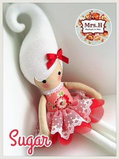 """From my Kandi range which are a whooping 23"""" tall, wearing a pretty tutu layered with embroidered lace.They are CE marked and suitable from birth although actually bigger than the average newborn Sugar is doll no.2014/121"""