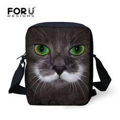 FORUDESIGNS Cute Children 3D Pet Cat School Bags Mini Girls Schoolbag  Mochila Women Travel Shoulder Bag a02d1f1a0ee44