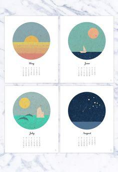 Wall calendar 2017 12 months plus inspirational by Emblematical