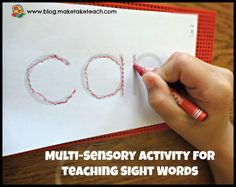 Multi-Sensory Activity for Teaching Letters and Sight Words  - Pinned by @PediaStaff – Please Visit  ht.ly/63sNt for all our pediatric therapy pins