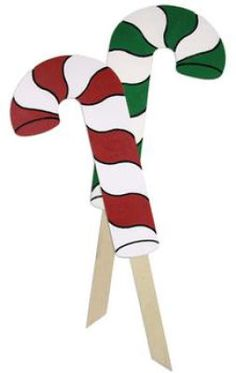 Candy Cane Yard Stakes