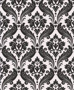 vintage flock damask wallpaper by kelly hoppen. $85 per roll.