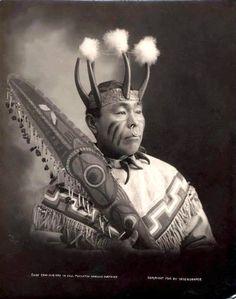 Tlingit Chief Cow-Dik-Ney. Alaska. 1906. Photo by Case & Draper.