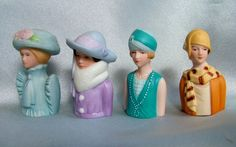 4 Vintage Fashion Ladies Avon Thimbles    $15. My lovely sister-in-law bought me…