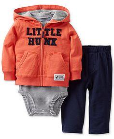 Carter's Baby Boys' 3-Piece Hoodie, Bodysuit & Pants Set