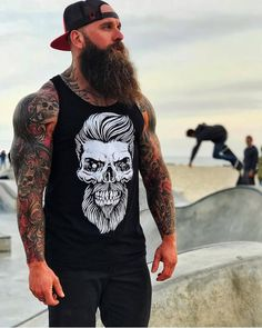 Rate style _ Support for more inspir Mr Beard, Beard Love, Badass Beard, Epic Beard, Great Beards, Awesome Beards, Bearded Tattooed Men, Bearded Men, Beard Styles
