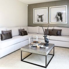 The spacious living room has French doors opening onto the back garden. #Strata #lounge