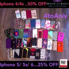 HOY es Último con los Cases de  Iphone 5/5s/6 al 25% descuento! ($179 y $194)...Enviamos a Domicilio en Xalapa y TODO EL PAÍS. Cualquier duda por inbox, whatsapp o info@montselabonita.com