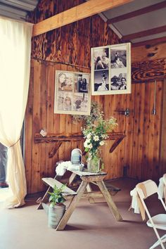 Using old window frames for our engagement pictures would be so pretty!  Great for the greeting table when guests walk in.