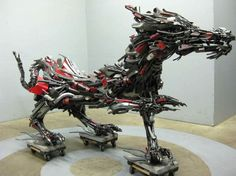 Travis Pond Crafts Elaborate Larger Than Life Beasts from Scrap Motorcycles