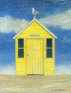 Beach hut painting!