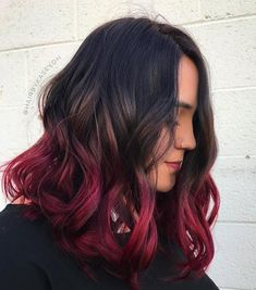 13 Vibrant Hair Colors Inspired by Fall Foliage - 13 Vibrant Hair Colors Inspired by Fall Foliage Fall Foliage Hair Color Ideas Vibrant Hair Colors, Hair Dye Colors, Hair Color For Black Hair, Cool Hair Color, Hombre Hair Colors, Hair Color For Kids, Red Hair Tips, Colourful Hair, Best Ombre Hair