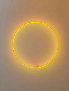 """Laurent Grasso, """"Eclipse"""" 2012 Two neon tubes / Deux tubes néon 39 1/4 inches (diameter) / 100 cm (diamètre). Courtesy Galerie Perrotin"""