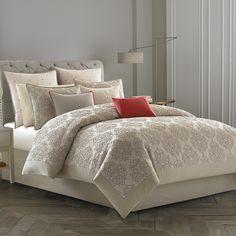 #Wedgwood Grand #Damask Comforter & Duvet Cover Set. #BeddingStyle #bedroom #design