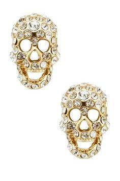 Skull Stud Earrings by Meghan LA on @HauteLook