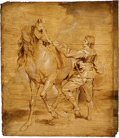 Anthony Van Dyck (attributed), Man Mounting a Horse Attributed - Anthony van Dyck, around 1630 © Metropolitan Museum of Art - New York Anthony Van Dyck, Sir Anthony, Mounting A Horse, Man Mount, Equestrian Statue, European Paintings, Horse Drawings, Equine Art, Horse Art