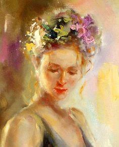 Copelia by Anna Razumovskaya #Art  #Painting #Portrait
