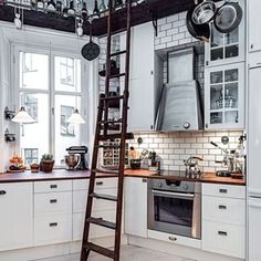 Keep the best stuff just out of reach. | 27 Inspirations For The Most Important Room In Your Home