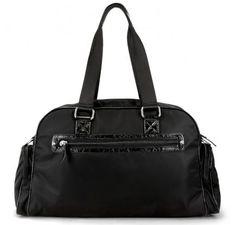 "OOYOO diaper bag ""Labor of Love"" black noir medium duffel - back view"