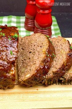 Just 3 basic ingredients and one just might be a leftover! Lamb Recipes, Real Food Recipes, Cooking Recipes, Yummy Food, Drink Recipes, Easy Meatloaf, Meatloaf Recipes, Recipes Using Ground Beef, A Food