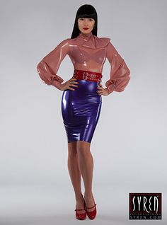 Modern, vielseitig und immer im Trend, wird dieser 3 breit Latex-Gürtel sicher ein Lieblings-Accessoire in jedem Fetishista Kleiderschrank. Vorne,